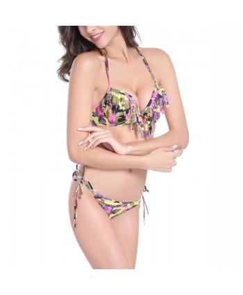 Camouflage Tassel Bikini Set