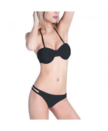 Push Up Halter Bikini Set