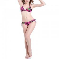 floral halter bikini set