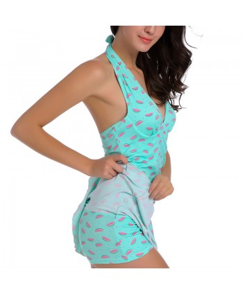 Print Ruched Tummy Control Skirted Swimsuit
