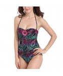 Plus Size Printed Halter One Piece Swimsuit