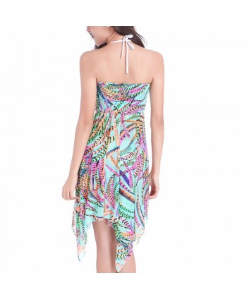 Multiway Feather Strapless Cover Up Dress