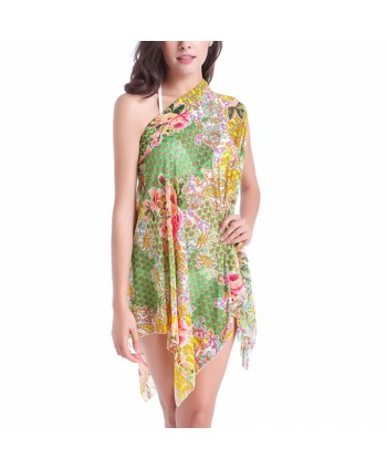 Multiway Floral Strapless Cover Up Dress