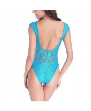 Lace Backless One Piece Swimsuit