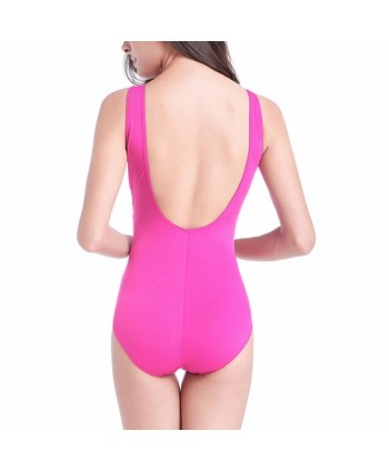 Plus Size High Waisted One Piece Swimsuit