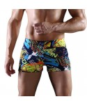 Plus Size Letter Print Swim Trunks