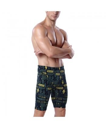 Plus Size Cartoon Print Swim Shorts