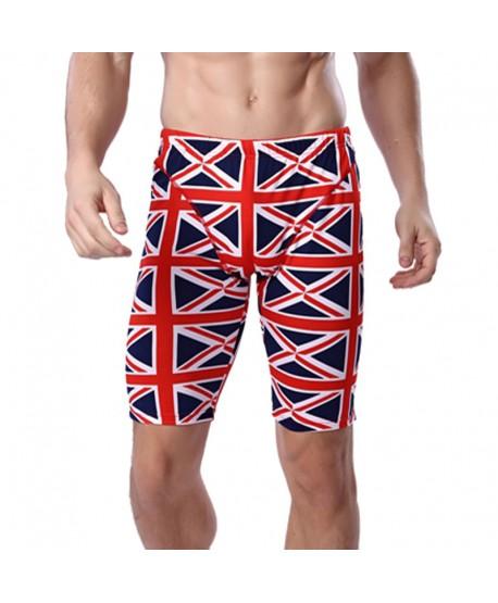 Plus Size UK Flag Print Jammer Swim Shorts