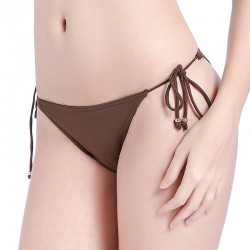 solid tie up bikini bottom