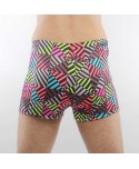 Plus Size Multicolor Stripe Swim Trunks