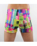 Plus Size Mutlicolor Swim Trunks