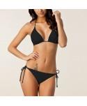 Plus Size Black Halter Bikini Set