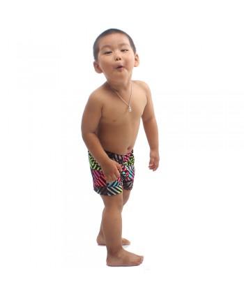 Little Boys Multicolor Stripes Swim Trunks