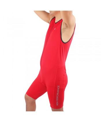 Mens Sleeveless Triathlon Suit in Red