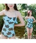 Palm Tree Flounce One Piece Swimsuit