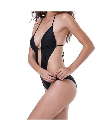 Plunging One Piece Swimsuit