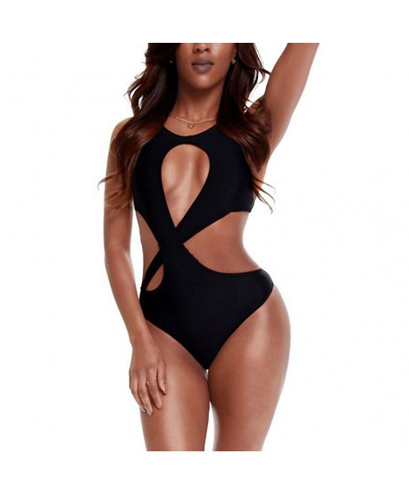 Crisscross Cutout One Piece Swimsuit