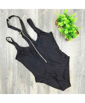 Cutout Zip Up One Piece Swimsuit
