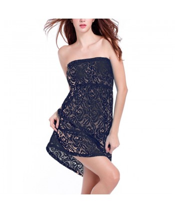 Lace Strapless Cover Up Dress