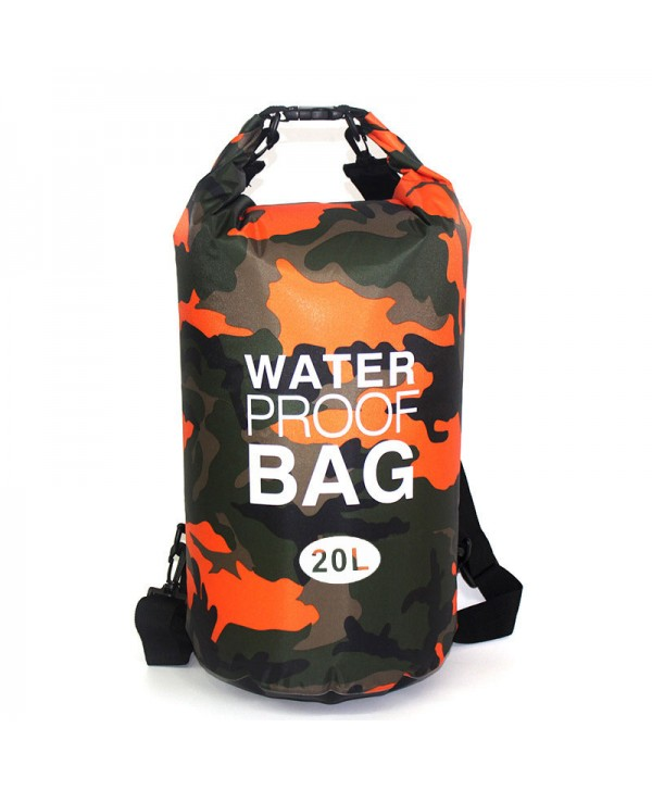 20L Outdoor Rafting Dry Bag Roll Top Waterproof Duffel Dry Gear Bag Camo