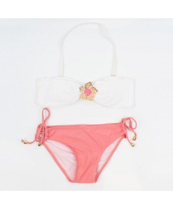 Embellished Halter Bikini Set