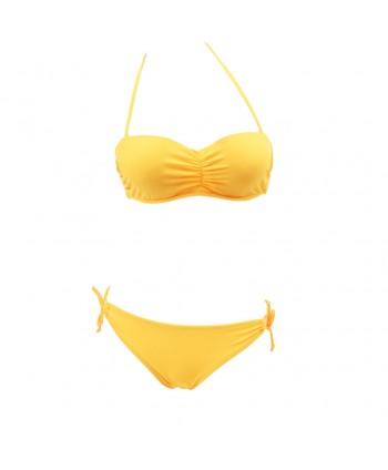 Ruched Halter Bikini Set
