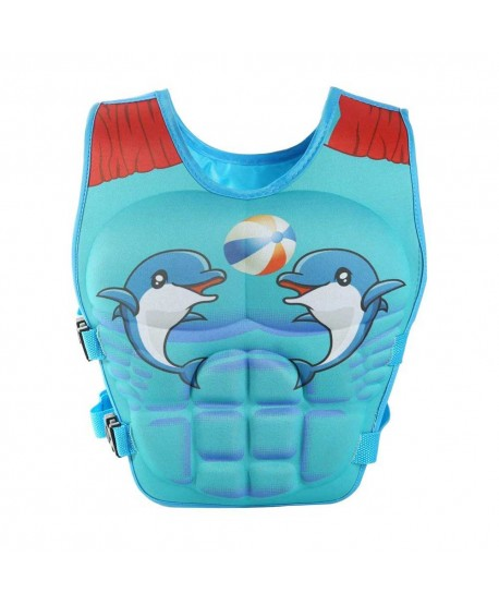 Cute Dolphin Elephant Kids Learn to Swim Vest