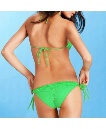 Trendy Ruffle Halter Bikini Set