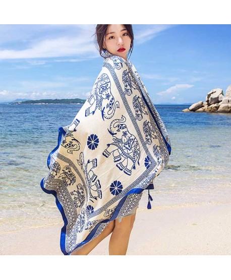 Mandala Elephant Beach Shawl Wrap