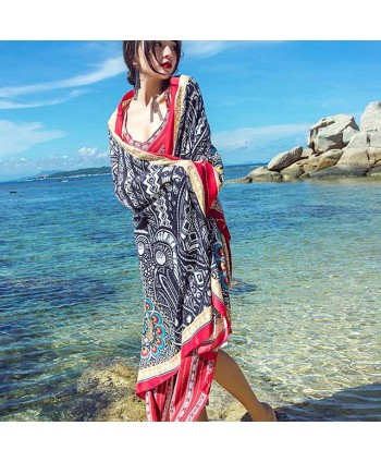 Peacock Feather Print Beach Wrap