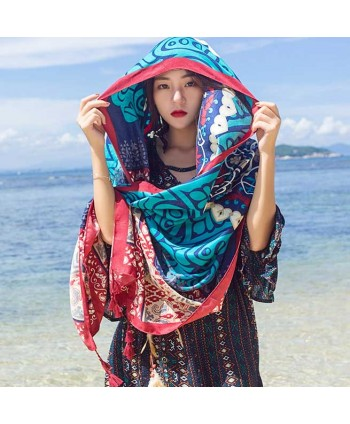 Tribal Print Beach Shawl Wrap