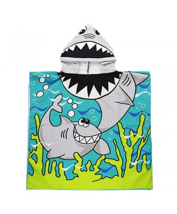 Shark Spiderman Pirate Boys Hooded Poncho Towel