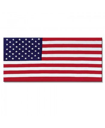 American Flag Patriotic Bath Towel