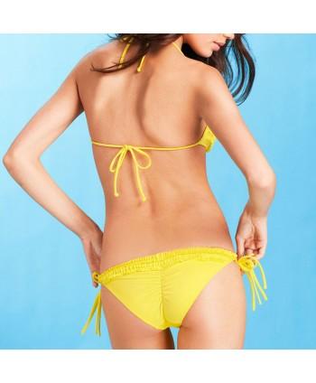 Cute Ruffle Halter Bikini Set