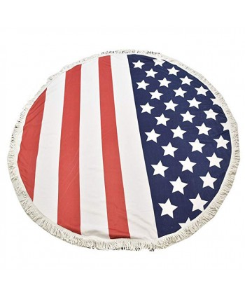 American Flag Round Beach Blanket