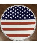 American Flag Round Beach Blanket