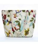 Floral Print Canvas Beach Tote Bag