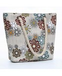 Floral Canvas Beach Tote