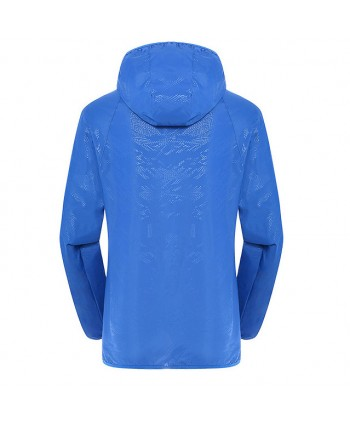 Unisex Anti UV Skin Windbreaker Hooded Jackets
