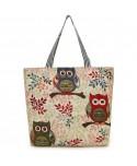 Owl Print Beach Tote Bag
