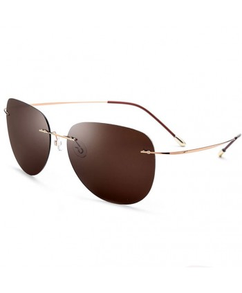Frameless Polarized Aviator Sunglasses