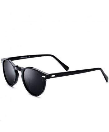 Mens Vintage Round Polarized Sunglasses