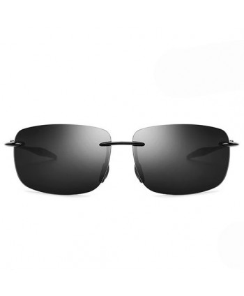 Mens Vintage Frameless Rectangular Sunglasses