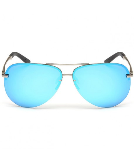 Half Rim Polarized Sunglasses for Men