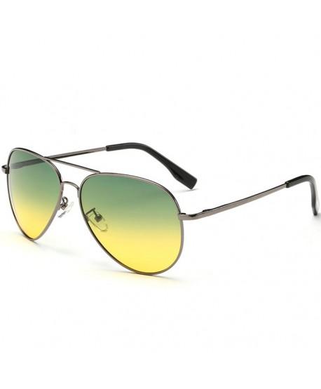 Unisex Pilot Mirror Polarized Sunglasses