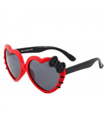 Kids Soft Silicone Heart Shaped Cute Polarized Sunglasses