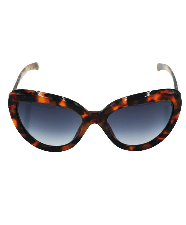 Unisex Cat Eye Polarized Tortoise Sunglasses