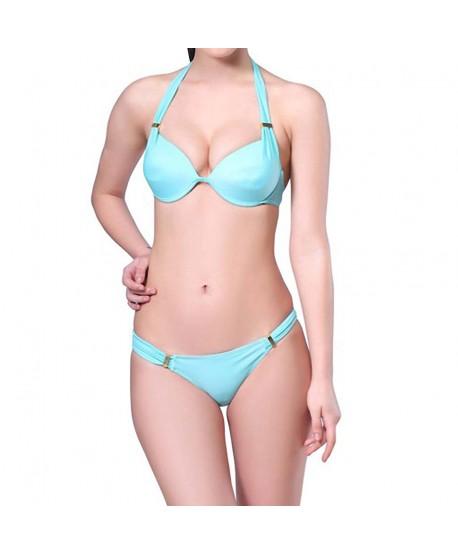 Halter Push Up Bikini Set