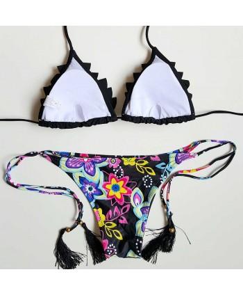 Flower Tassel Bikini Set