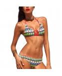 Geometric Halter Bikini Set